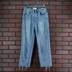 MINK PINK DENIM MPD High Rise Straight Leg Jeans